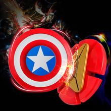 Buy Avengers Iron Man Fidget Spinner Captain America Shield Finger Spinner EDC Hand Spinner Anxiety Stress Relief Toys Kid#E for $1.96 in AliExpress store