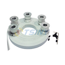 HTD 5pcs 15 Teeth 3M Pulley Bore 5/6/6.35/8mm + 5meters 3M Timing Belt Width 15mm HTD3M CNC Engraving Machine Parts