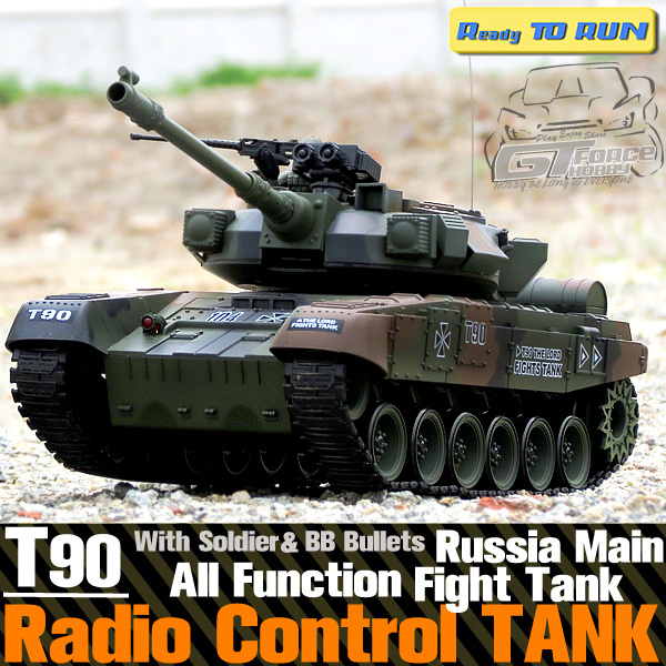 1/20 scale 9channel Russian T90 Battle Tank Electric Rc Tank with BB bullet 3 speed mode rotatable cannon gun(China (Mainland))