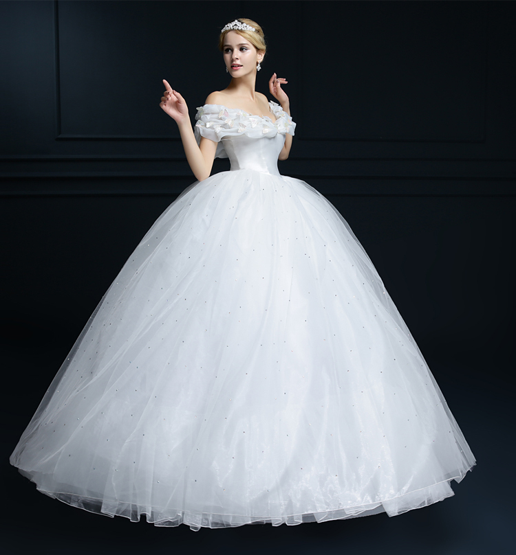 Dress cuff picture more detailed picture about deluxe for White cinderella wedding dress