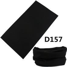 2016 New Arrival Multifunctional Seamless Black Bandana Cycling Tubular Scarf Solid Turban Headband Bufanda Tubular Negro(China (Mainland))