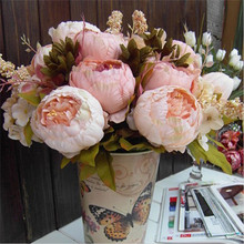 Bouquet Artificial Peony Silk Flowers