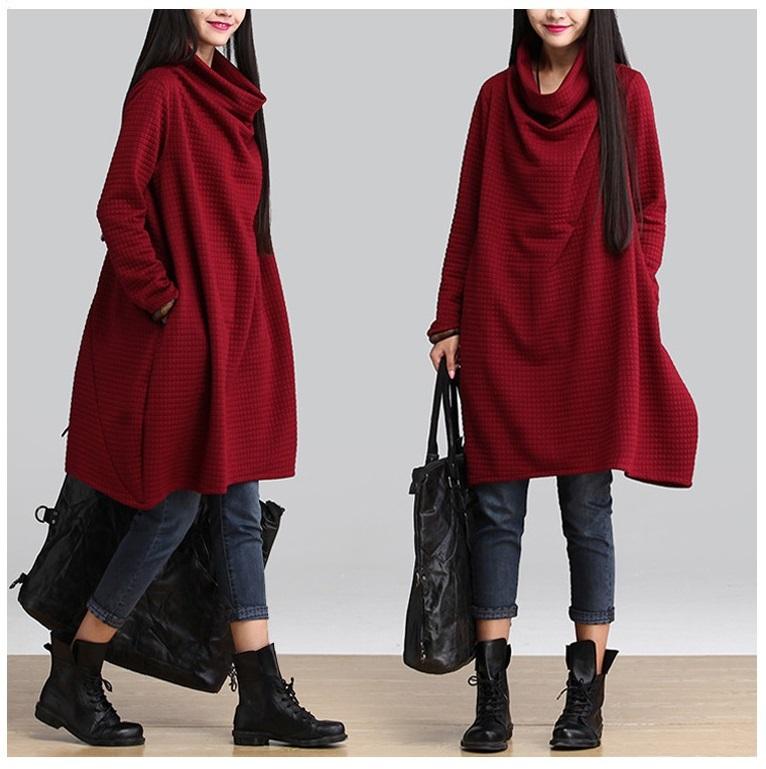 2015 autumn winter Women's Fashion Clothing loose Long Sleeve desigual Dresses female temperament elegant Vintage linen dress(China (Mainland))