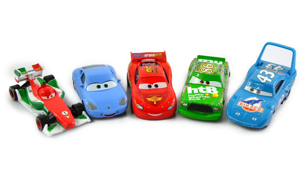 5Pcs/ Set Cars Pixar 2 Diecast Models Vehicles Kids Toys Car Toys For Children- The King,Mcque,HTB,Sally,Francesco(China (Mainland))