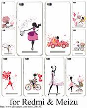Bicycle Girl Hard Transparent Case Cover Redmi 2 2A 3 Pro 3S Note & Meizu M2 mini M3 - ShenZhen Caixi Co.,Ltd Store store