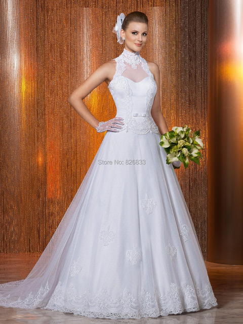 Royal princess style white lace and tulle wedding dress for Big white wedding dresses