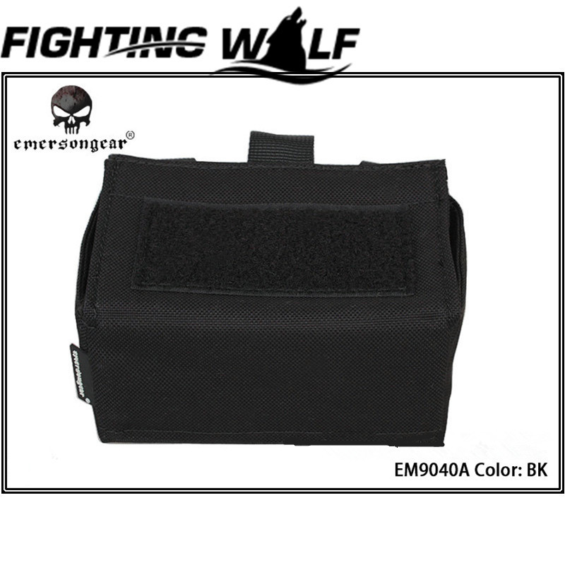 Emerson Tactical Airsoft Molle Shotgun Ammo Box Portable Durable Bullet Bag for Military Outdoor Hunting Sport Cycling Bag(China (Mainland))
