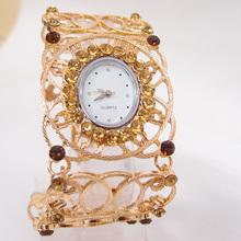New Fashion Women Nice Crystal Bangle Watch Ladies Cuff Quartz Watch vintage watch women dress watches