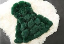 New 2016 Winter Coat Women Import Whole Peel Fox Fur Faux Vest High-Grade Fur Coat Leisure Shitsuke Women Coat Size:S-XXXL(China (Mainland))
