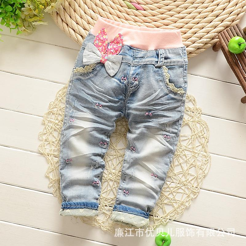 Spring 2016 children with baby jeans pants<br><br>Aliexpress