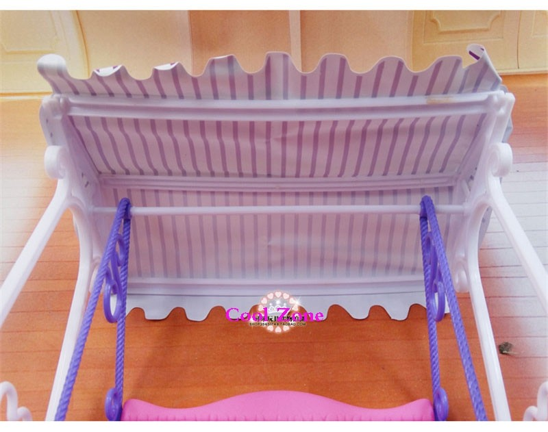 Miniature Furnishings My Fancy Life Backyard Swing Set for Barbie Doll Home Greatest Present Toys for Lady Free Transport