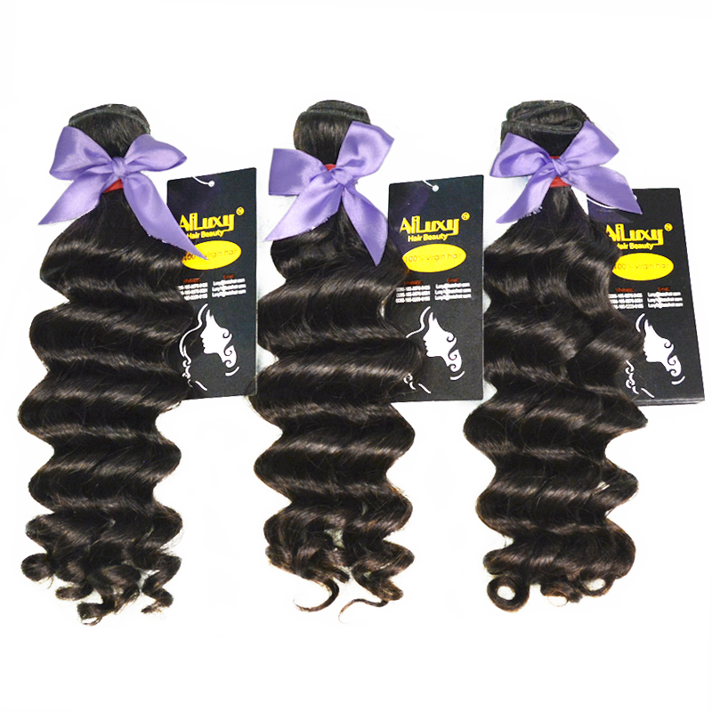 7AGrade Virgin hair loose wave, Eurasian human hair extension ,100G/piece 100g=3.5oz China factory wholesale price(China (Mainland))