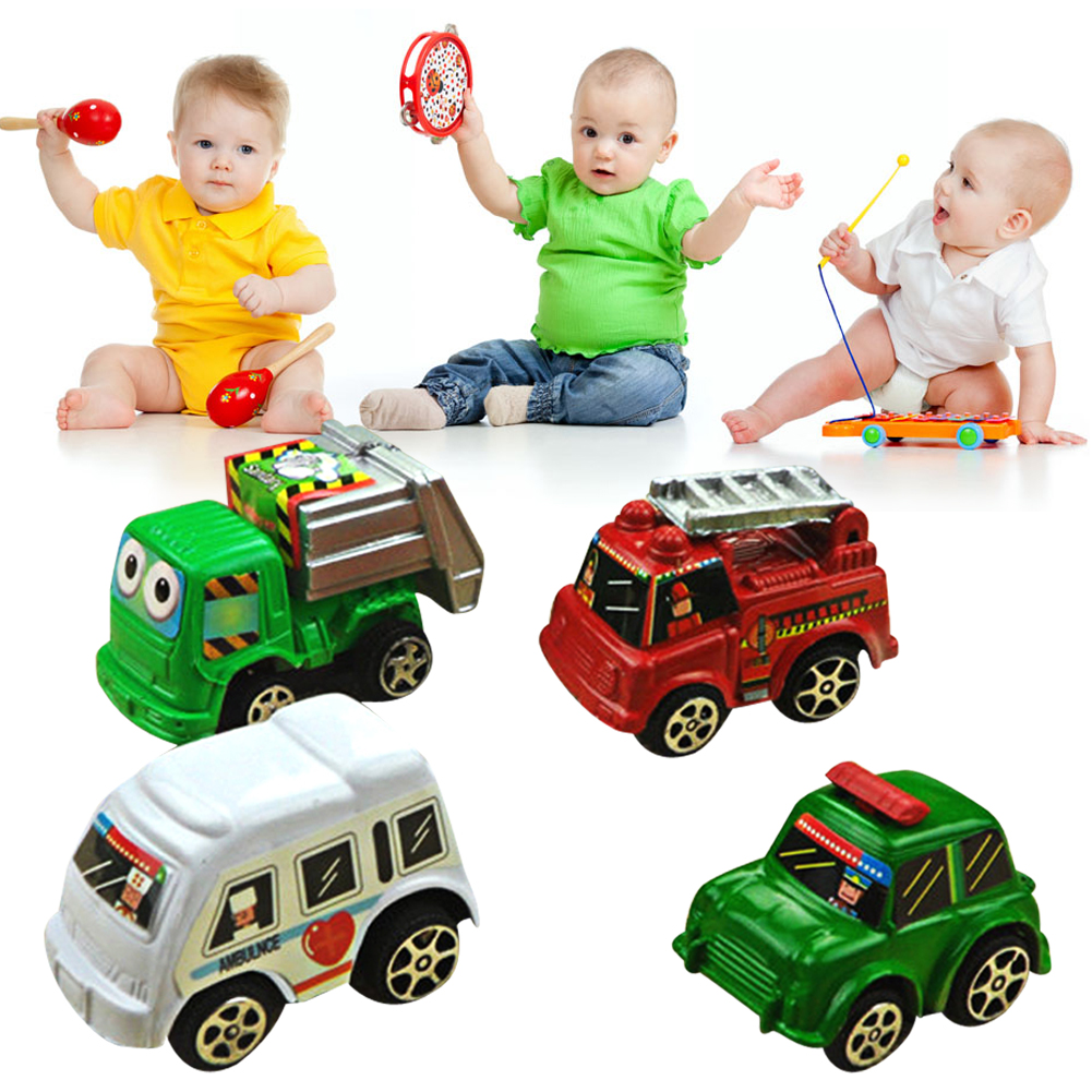 6 pcs in 1 bag Multi Color Mini Hot Wheels Toy Car Model Miniature Car Toy Pull Back Bus Truck Kids Toys For Children Boy Gifts(China (Mainland))