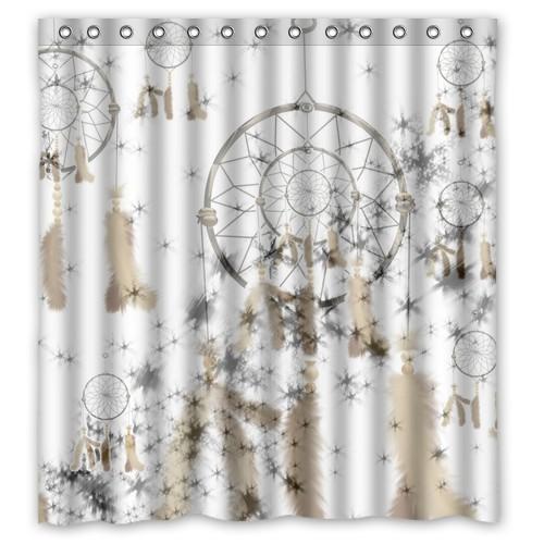 High Quality Bath Shower Curtain Waterproof Polyester Fabric Dream Catcher 66 X 72 60 X 72
