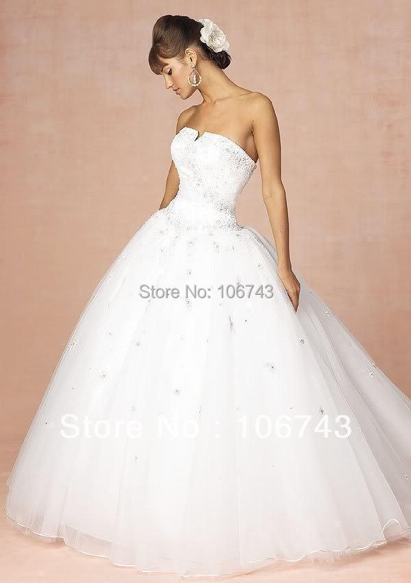 dresses free shipping 2015 hot seller good White Wedding Dress / Bridal ball Gown/ Bridesmaid or Debutante Dress & Petticoat NEW(China (Mainland))