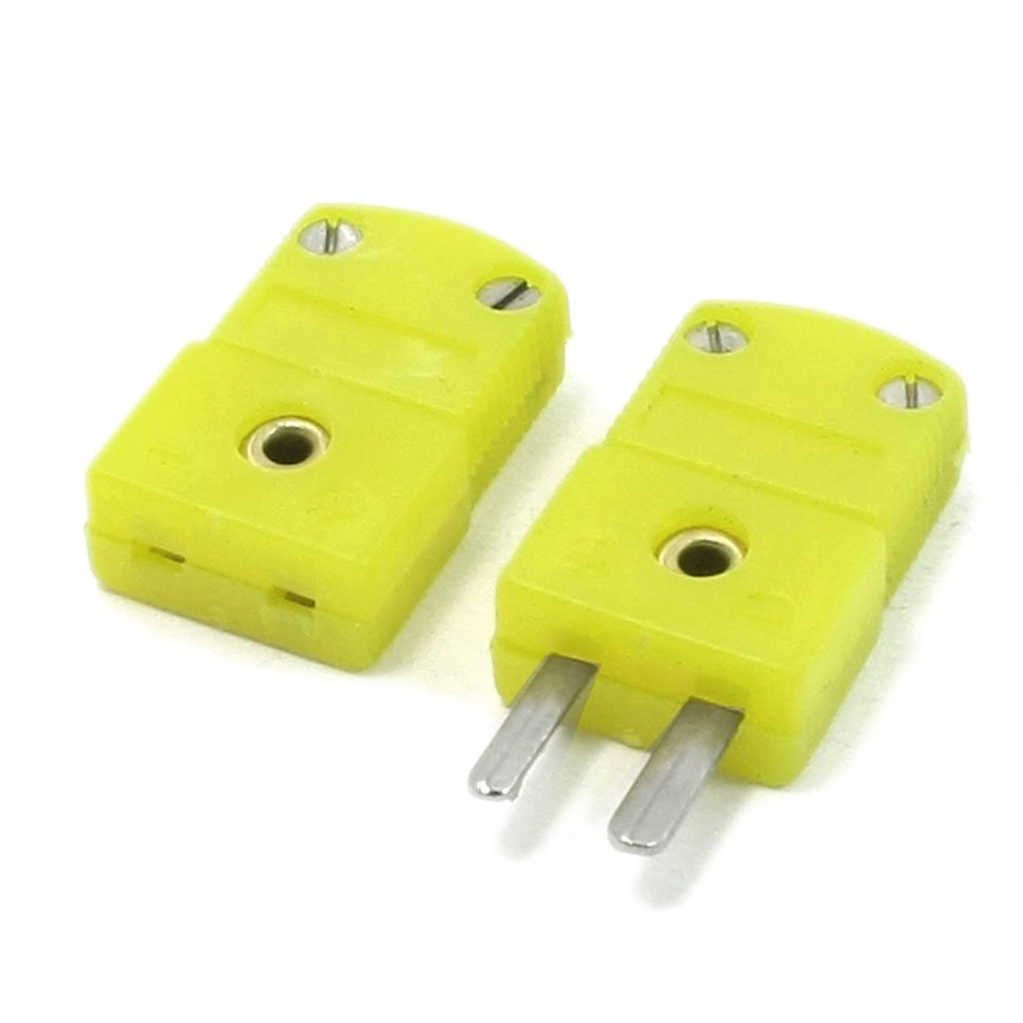 2016 Hot Yellow Plastic Shell K Type Thermocouple Plug Socket Connector Set<br><br>Aliexpress