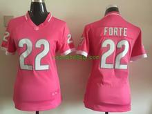 Women ladies all stitched PINK Chicago Bears # 17 Alshon Jeffery 22 Matt Forte(China (Mainland))
