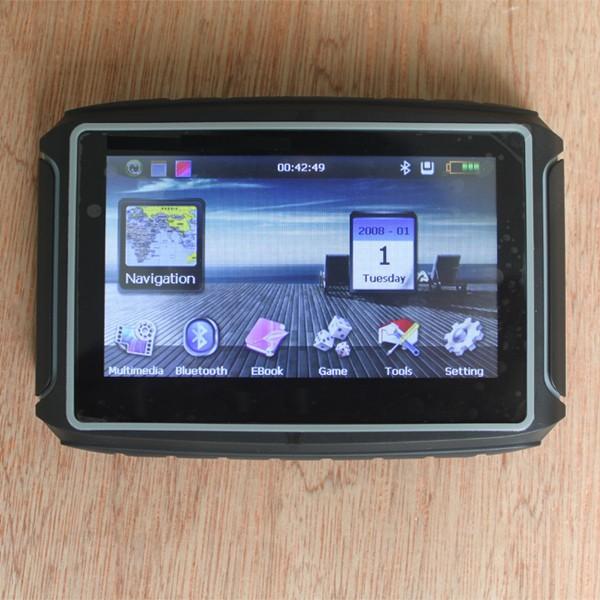 Car GPS Touch Screen Waterproof Motorcycle Car GPS Navigation Bluetooth Connect 8GB For Motorcycle/Car/Bike Navigator Car GPS(China (Mainland))