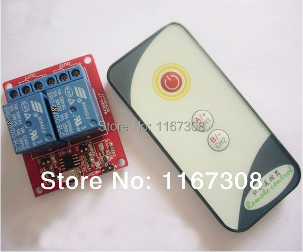 Free shipping infrared remote control + receiver module 24V infrared remote control module/ 2-way IR control/ IR relay module(China (Mainland))