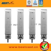 4 pieces Satin Polish BEST METAL Duplex 2205 Square core drill glass spigots for frameless glass swimming pool handrail railing(China (Mainland))