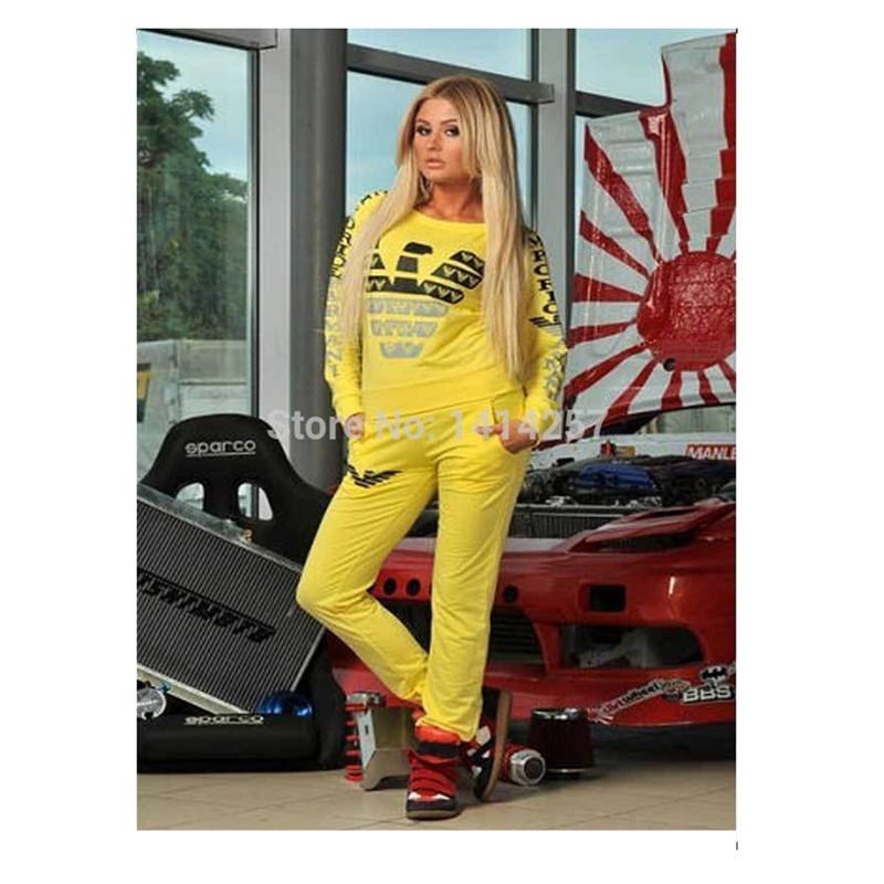 2015 Women Sportswear Sport Women Leisure Cotton Long Sleeve Plus Sizes Sport Suit Women In Wome's Hoodies Sweatshirts Set S-XXL(China (Mainland))