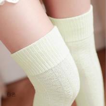 Hirigin/женские зимние вязаные сапоги выше колена из хлопка; теплые высокие ботинки 8 цветов; высокие ботинки(China)