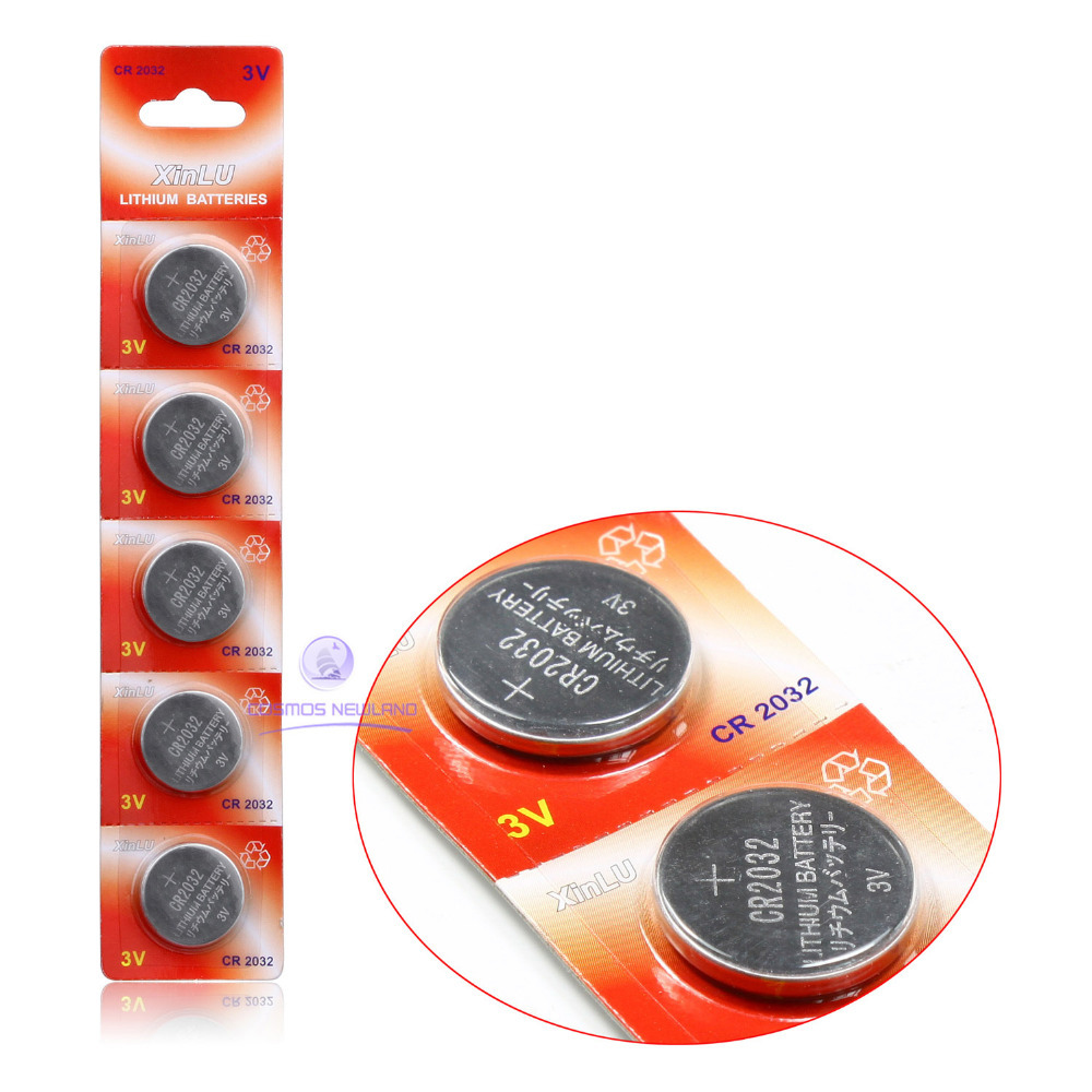 Free shipping 5pcs/lot Top sales CR2032 CR-2032 Lithium Button Coin Batteries 3V cell button(China (Mainland))