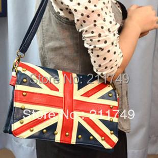 Ennabags vivi British flag bag navy torx flag british style rivet bag portable women's one shoulder handbag free shipping(China (Mainland))