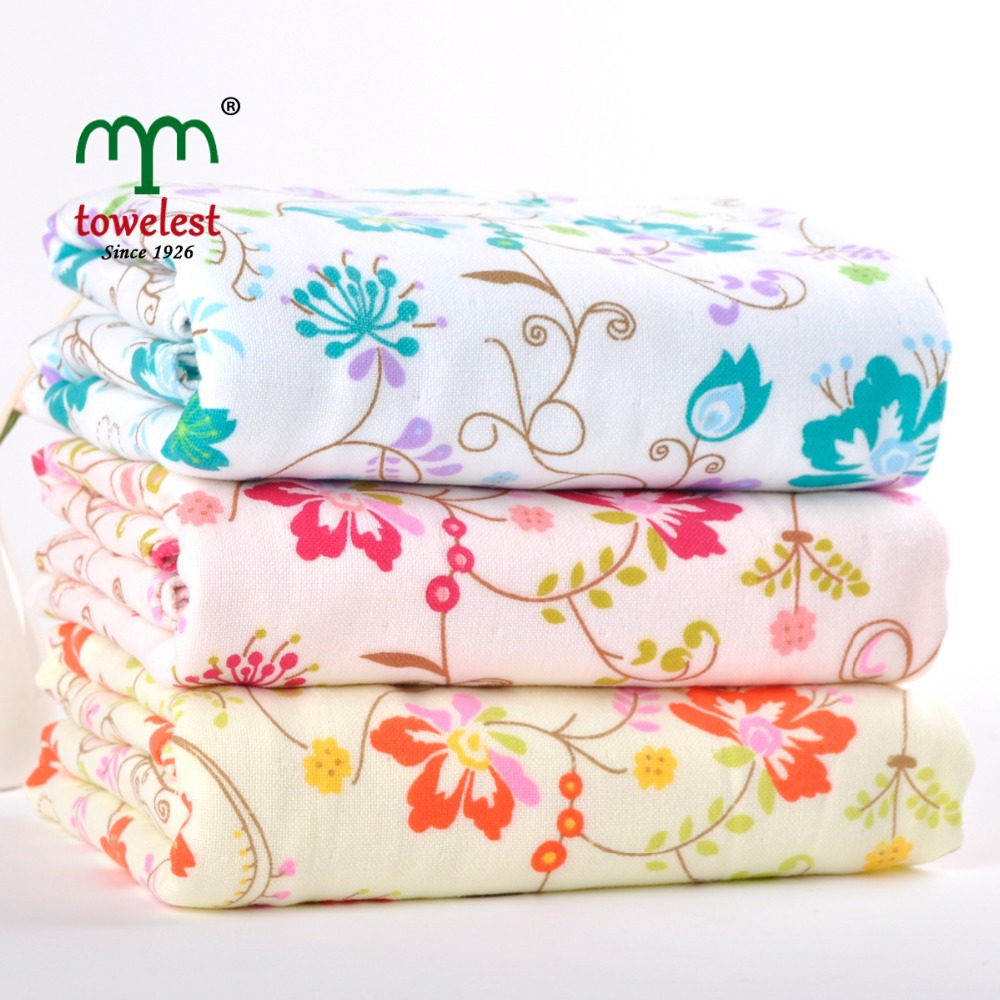 MMY High Quality 1PC 100% Cotton Bath Towel Floral Printed Towels for Adult toalla playa Bathroom Towel Girl/Women Wrap Towel(China (Mainland))
