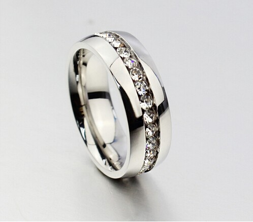 Geometric Design Women Fashion Wedding Ring Rose Gold Ring Titanium Steel Rings For Women Summer Engagement Jewelry(China (Mainland))