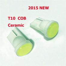 Short Section Ceramic Car Interior LED T10 COB W5W Wedge Side Light Bulb Lamp Car Light Source 12V T10 LED COB NO Error Parking(China (Mainland))