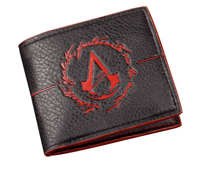 Wholesale 50pcs/lot Assassins Creed wallet with tags Game Assassins Creed Wallet Purse Cosplay Costume Accessory Props Toy(China (Mainland))