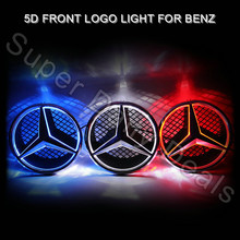 1pcs Car Front Grille Led Emblem Logo Light for Mercedes W176 W246 W166 W177 X204 W218 Viano etc. LED Cold Light 5d Badge lamp(China (Mainland))