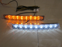 Free shipping 2psc 12V car light source white and yellow 2 14 LED Car Daytime Running