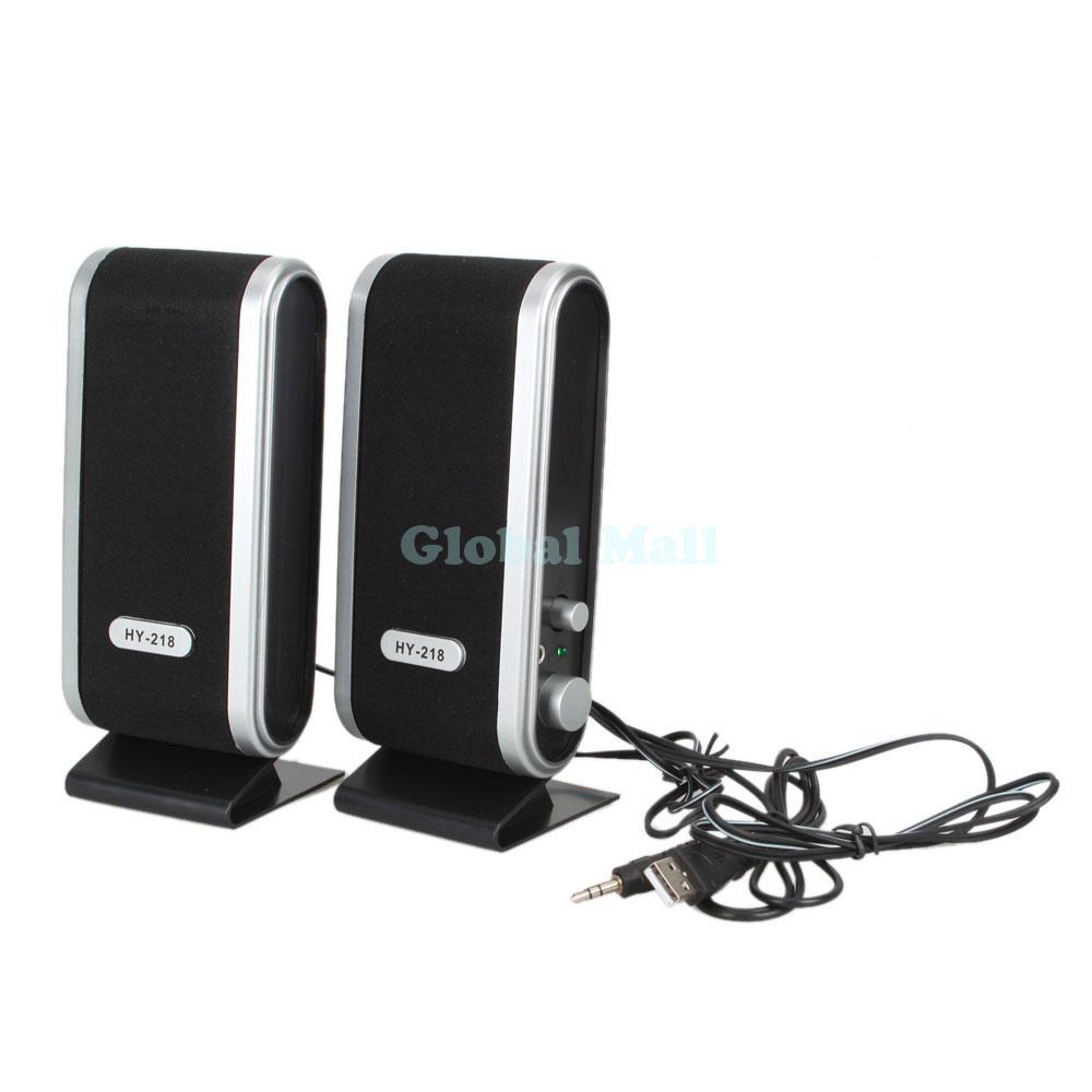 HY-218 120W USB Power Laptop Computer Speaker Black CK017(China (Mainland))