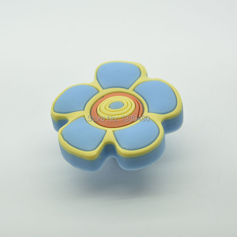 Free shipping children protection flower sillicone kids for Children s bureau knobs