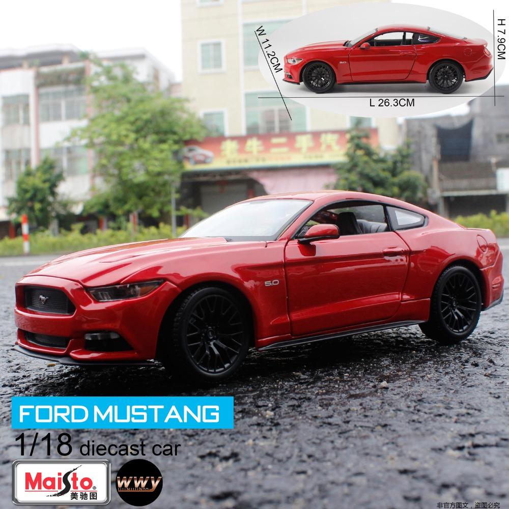 2016 Hot Sale Maisto 1/18 Alloy Car Model 2015 Ford Mustang GT DIecast Car Model Toy for Collection/Toys Gift(China (Mainland))