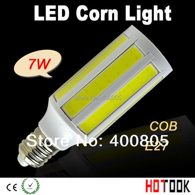 7W LED Corn lamps COB E27 LED Corn Light Bulb Lamp Lighting COBSMD 108leds 220V Indoor Lighting CE ROHS warranty 2 years x 10pcs