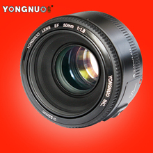 Buy YONGNUO YN 50mm Lens fixed focus lens EF 50mm F/1.8 AF/MF lense Large Aperture Auto Focus Lens Canon DSLR Camera for $44.90 in AliExpress store