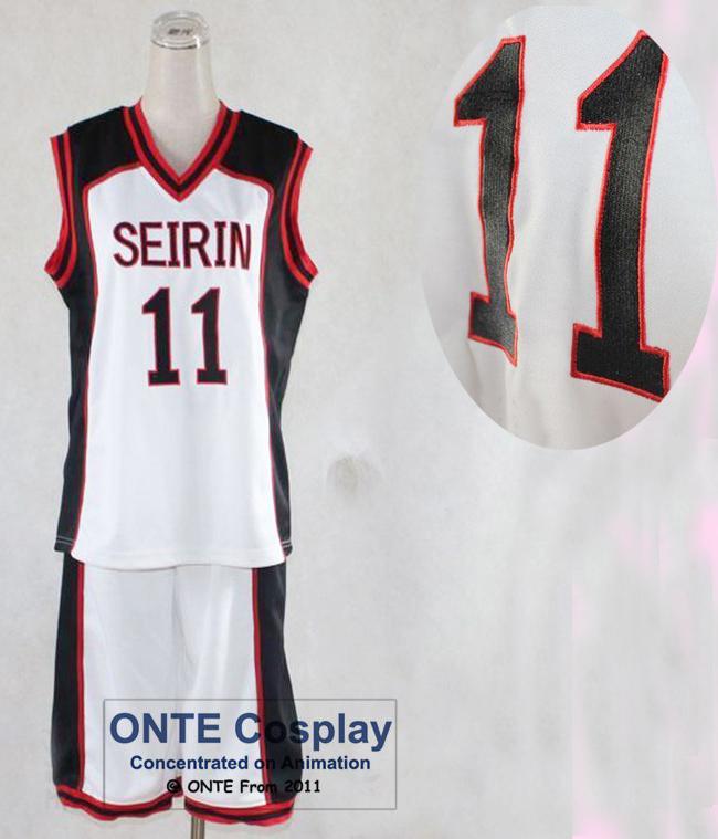 ONTE Kuroko no Basuke cosplay Costume SEIRIN School basketball Sport wears Embroidery Stitchwork Men Jersey Blank / 10 / 11(China (Mainland))