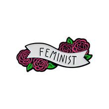 Feminisme Liberal Hore! Wanita Feminis Motivasi Wanita Merah Mawar Girl Power Rahim Aku Melakukan Apa Yang Saya Inginkan Enamel Bros Pin(China)