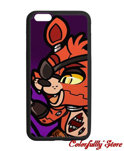 Cute Foxy Five nights at freddy Cover case for iphone 4 4s 5 5s 5c 6 6s plus samsung galaxy S3 S4 mini S5 S6 Note 2 3 4 5(China (Mainland))