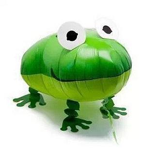 1Pcs/Lot Free Shipping Frog Helium Pet Walking Balloon, Baby Shower Animal Foil Balloon Party/Birthday/Wedding Decorations(China (Mainland))