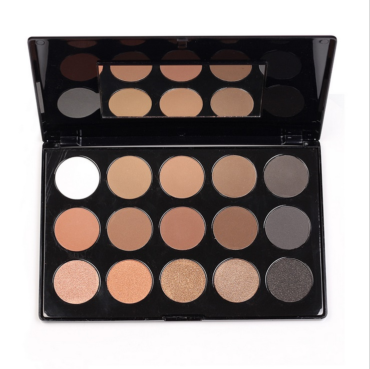 Hot Sale New Fashion 15 Earth Colors Matte Pigment Eyeshadow Palette Cosmetic Makeup Eye Shadow For Women Free Shipping(China (Mainland))