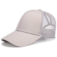 2018 brillo de cola de caballo de gorra de béisbol de las mujeres Snapback sombrero de papá del camionero de malla gorras de Bollo desordenado sombrero de verano femenino ajustable Hip Hop sombreros(China)