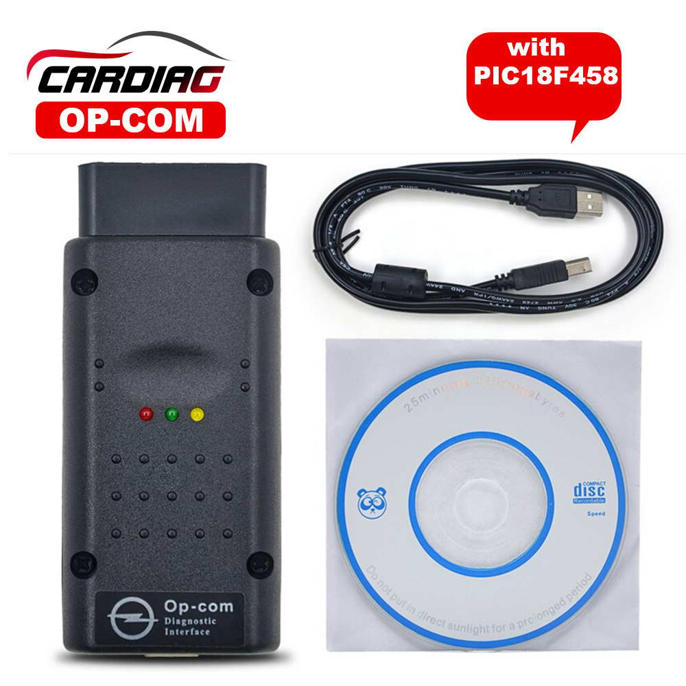 V1.59 quality A+++ Opcom Software 2014.02 with PIC18F458 Chip OP-Com Can OBD2 for Opel Firmware V1.59 Op com CAN BUS Interface(China (Mainland))