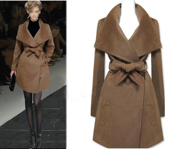 2015 spring autumn winter fashion wool jacket medium-long design brand wool coat outerwear trench  T007