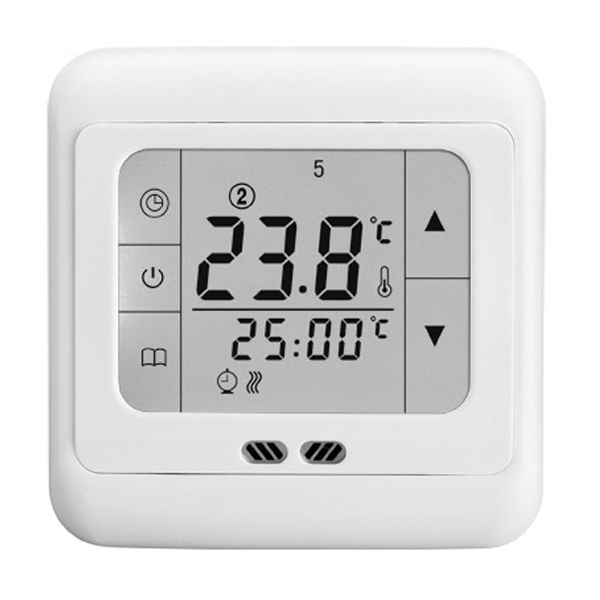 New Digital Touch Screen Display Thermostat Floor Heating Temperature Controller Room Thermostat White/Blue/Green Backlight(China (Mainland))