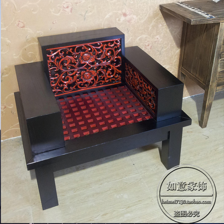 The new chinese style furniture sofa chair retro red for Chinese style sofa