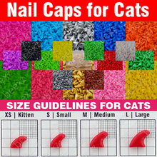 120pcs – Soft Nail Caps for Cats + 6x Adhesive Glue + 6x Applicator /* XS, S, M, L, paw, claw, cover, lot, cat */